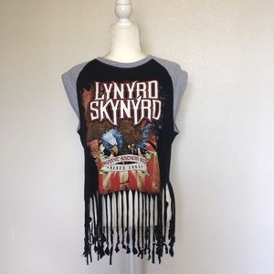Lynyrd Skynyrd Graphic Tee with Beads L